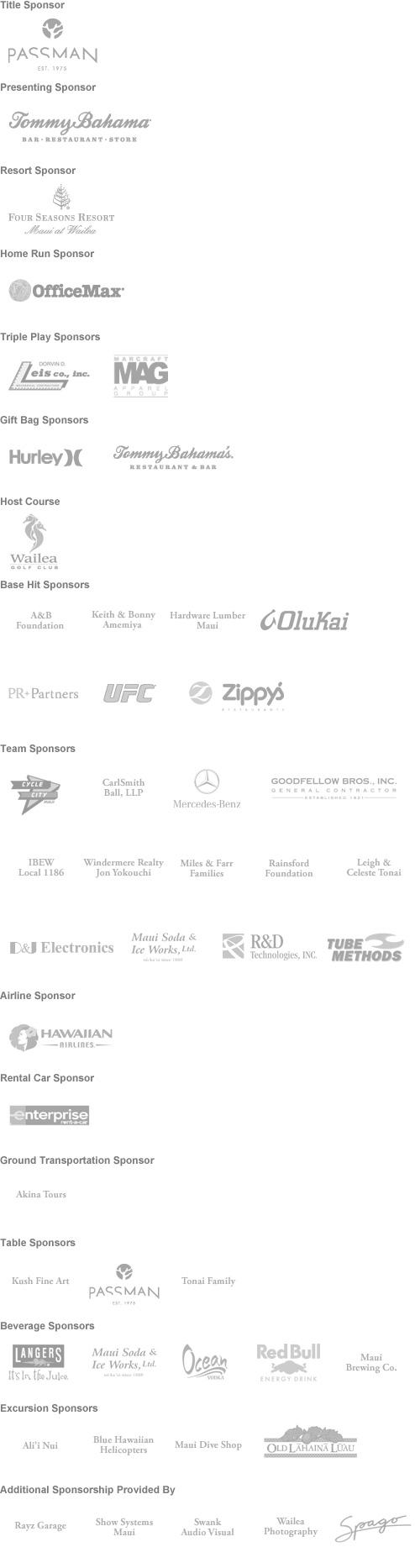 Shane Victorino Foundation - Golf Logos